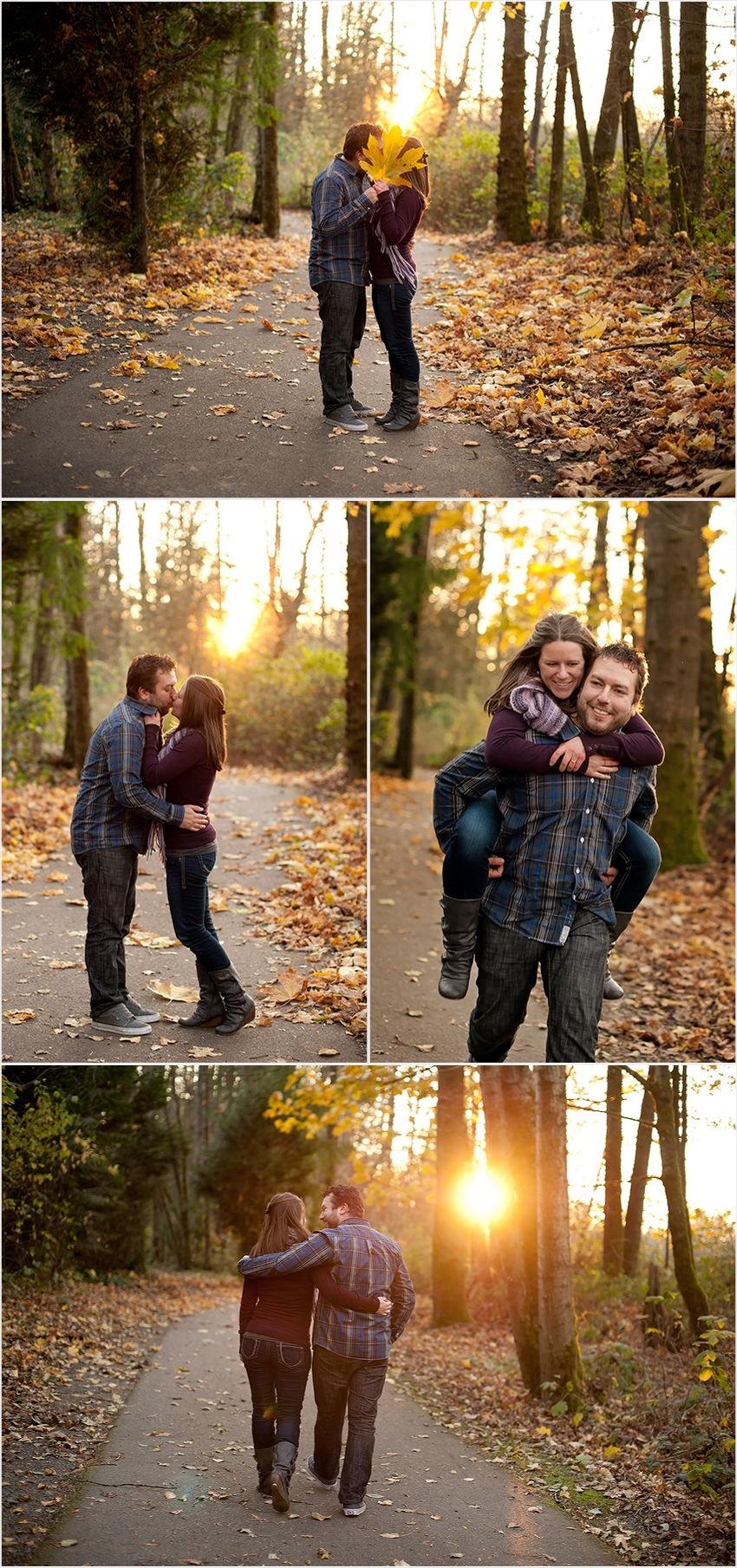 Bryan & Angela Abbotsford Wedding Photographer Autumn leaves
