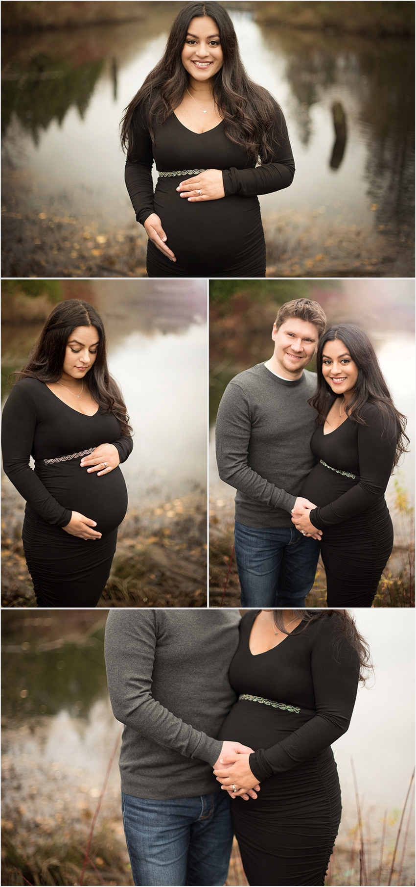 Abbotsford Maternity Photographer Fall Water 001 (Side 1)